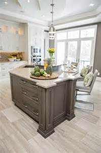 persian grey island transitional kitchen toronto