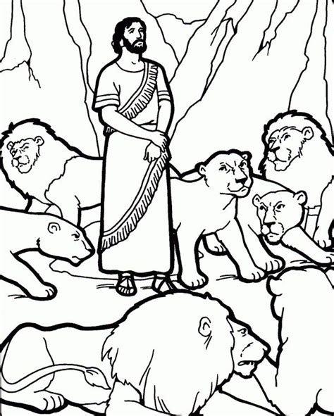 Daniel 6 Coloring Pages daniel in the lions den coloring page
