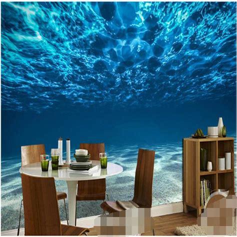 Restaurant Wall Murals charming deep sea custom photo wallpaper ocean scenery