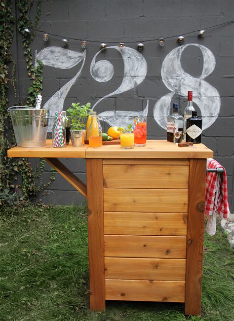 diy backyard bar diy outdoor bar merry mag storefront life