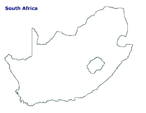 south africa map outline map of south africa terrain area and outline maps of
