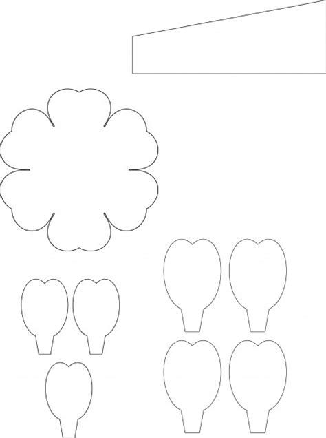 template flower paper craft paper flower pattern 1