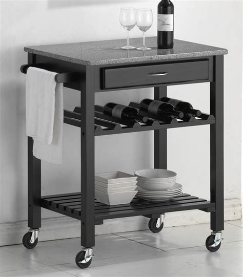 modern kitchen cart baxton studio kitchen cart with drawer