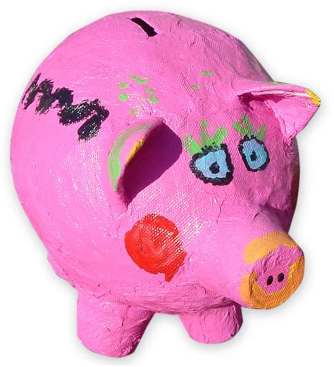 How To Make A Paper Mache Piggy Bank - pin by johnson on kid projects