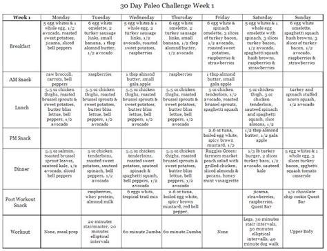 30 day diet plan challenge week 1 of 30 day paleo challenge paleo diet