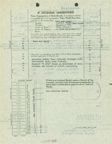 Wwii Records Wwii Casualty Records Understanding The Wwii Individual Deceased Personnel File I D