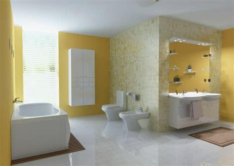 gelbe badezimmer dekorieren ideen baddeko dezente doch charaktervolle deko ideen