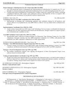 Project Resume Format Cover Letter For Infrastructure Project Manager