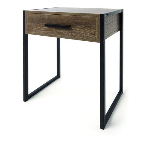 kmart side table industrial side drawer kmart