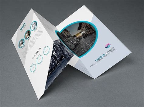 brochure trifold template psd free creative trifold brochure template psd titanui