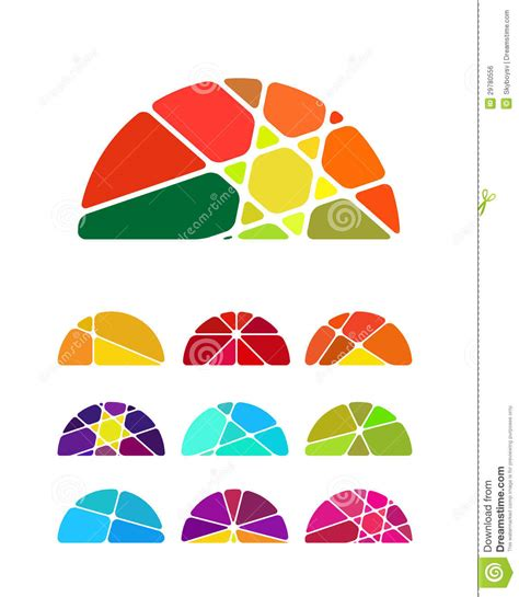 colorful logo design elements vector set design vector semicircular logo element royalty free stock