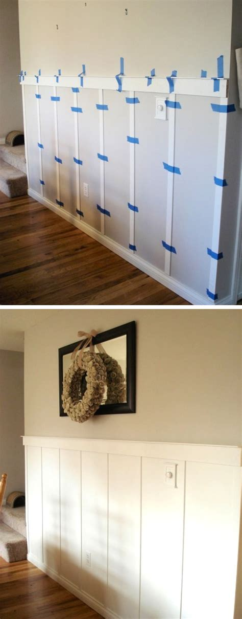 house remodel ideas diy wall 27 easy diy remodeling ideas on a budget before and