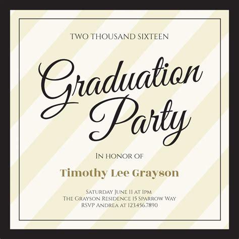 broad diagonals graduation party invitation template   island