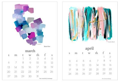 printable art calendar 2016 free printable calendar artist collaboration project