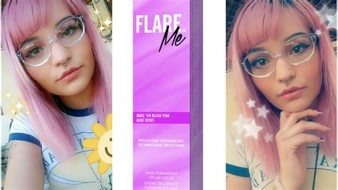 color me pink clairol flare me make em blush pink review dying my