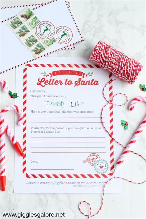 letters to santa template oriental trading diy letter to santa felt envelope