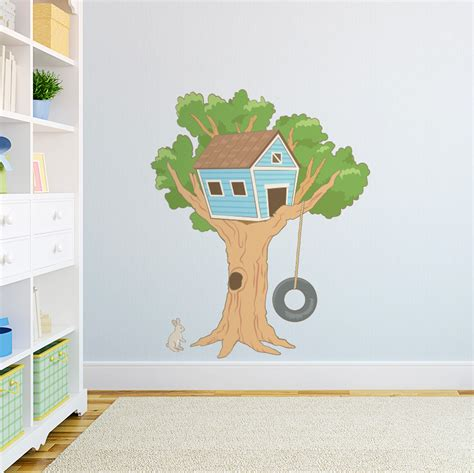 house wall stickers tree house printed wall decal