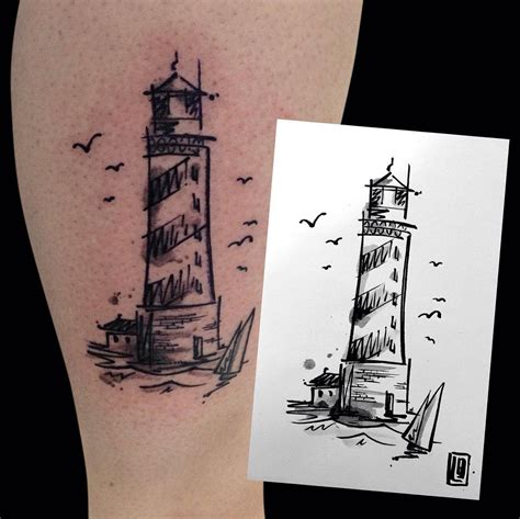 small lighthouse tattoo collection of 25 small lighthouse