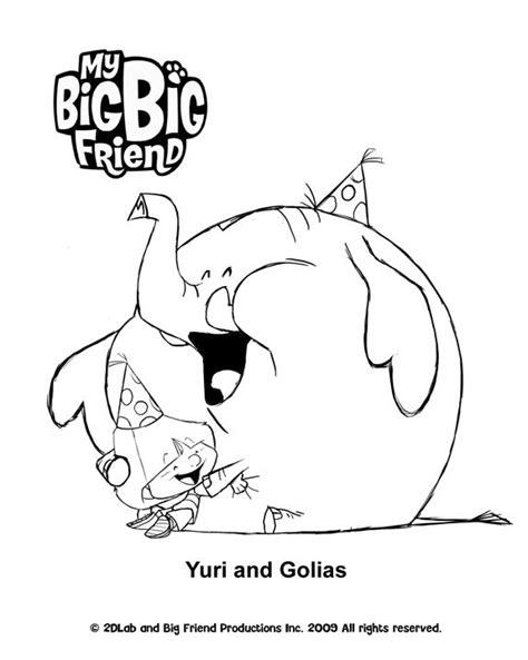 my big big friend colour yuri golias treehouse