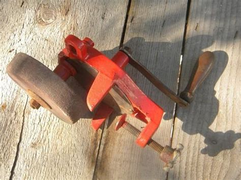 hand powered bench grinder old hand crank shop bench grinder for sharpening knives