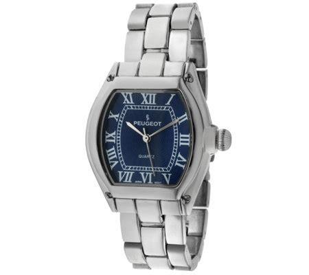 peugeot s silvertone blue bracelet qvc
