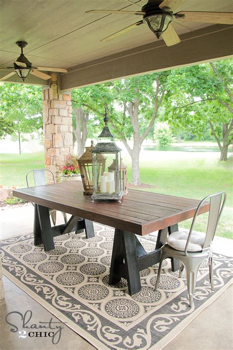 Pottery Barn Patio Table Restoration Hardware Inspired Dining Table For 110 Shanty 2 Chic