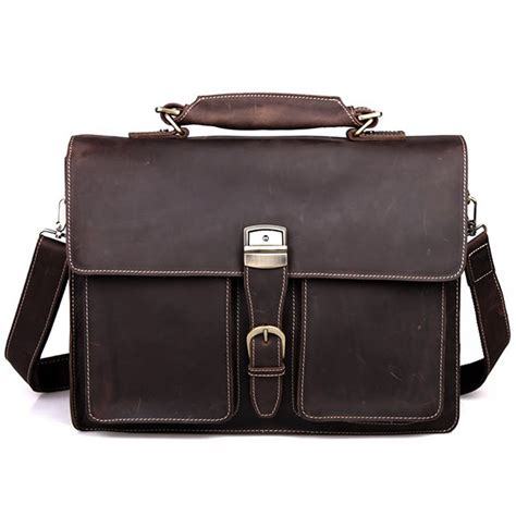 Handmade Laptop Cases - s handmade vintage leather briefcase leather