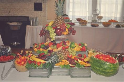 wedding fruit table food