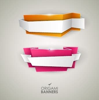 Creative Origami - creative origami banner design vector free vector in