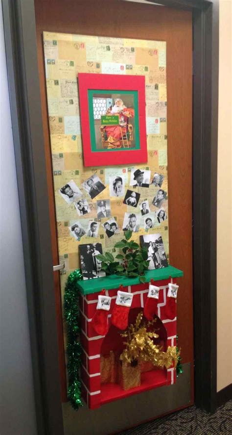 door christmas decoration contest door decorations for school fireplace kapan date