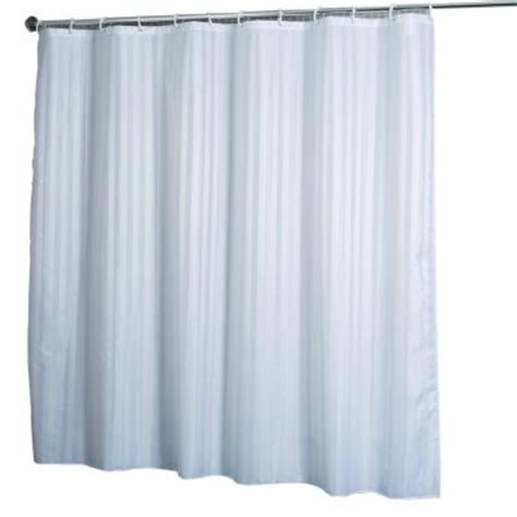 shower curtain track home depot croydex shower curtain in woven stripe white af580822yw