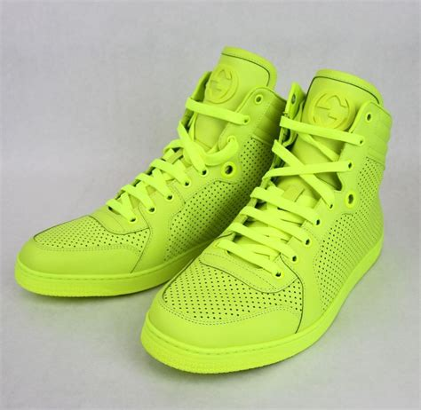 neon gucci sneakers new authentic gucci mens coda leather high top sneaker