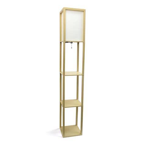 shelf floor l with shade simple designs 63 3 in etagere white floor l organizer