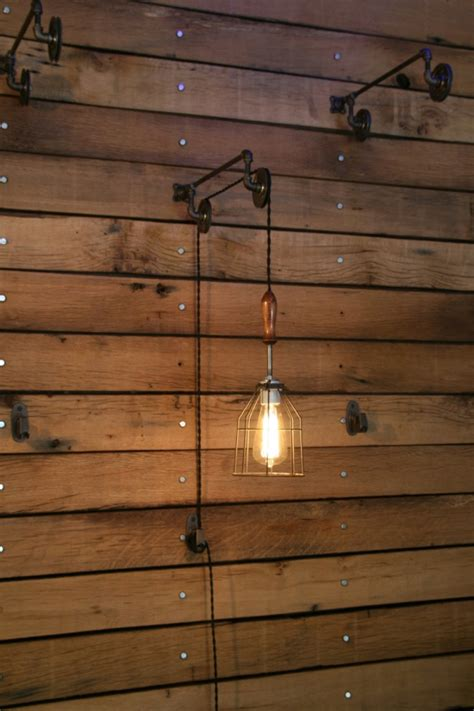 Pulley Mounted Industrial Wall Lights ? Adorable Home