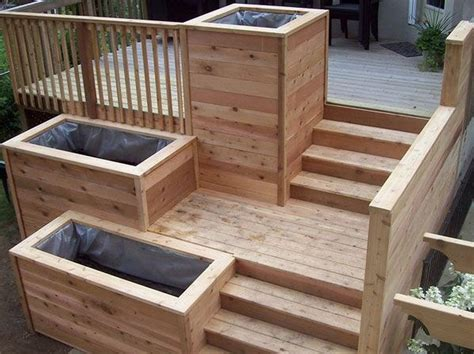 Cool Planter Boxes by Deck Planter Box Ideas How To Make Wooden Planter Boxes