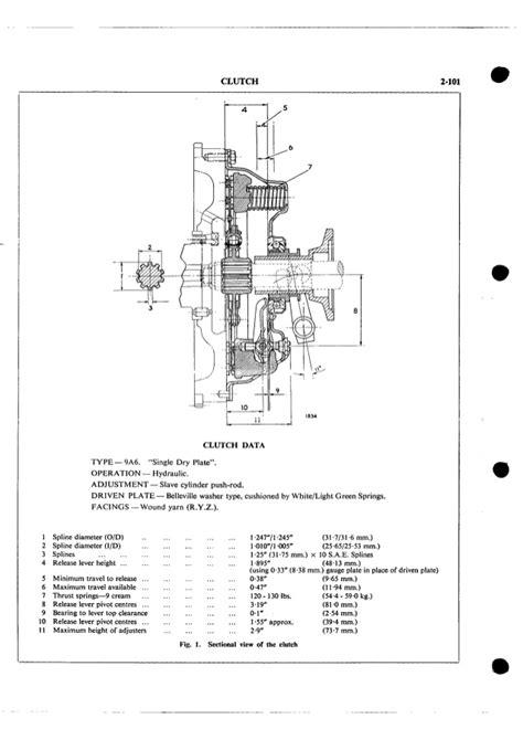 Triumph TR4 TR4A clutch workshop manual