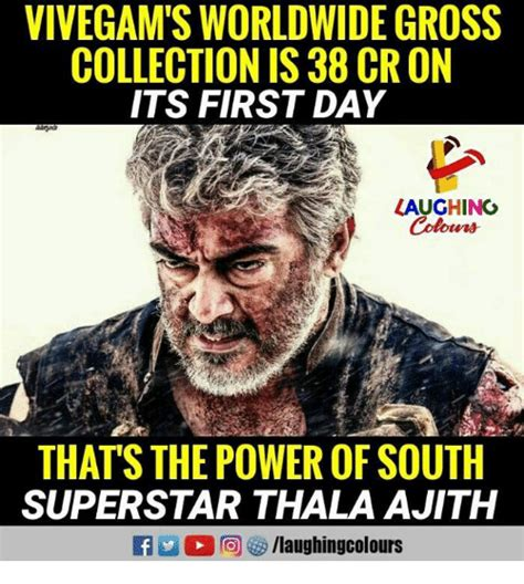 Gross It S Friday Memes - vivegam s worldwide gross collection is 38 cr on its first