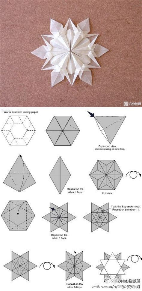 Folded Paper Snowflakes - origami snowflakes paper