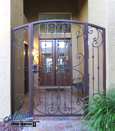 iron gate for front door fouet wrought iron courtyard entry gate traditional