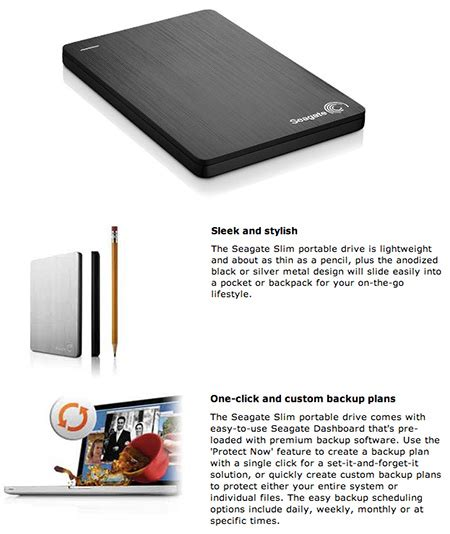 Seagate External Hdd 500 Gb Backup Plus Limited new seagate backup plus slim 1tb 2 5 quot usb3 0 external