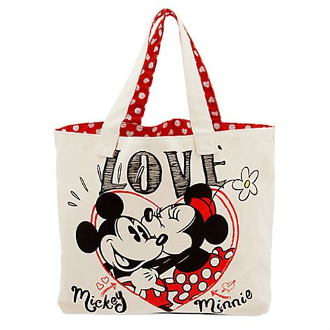 Tote Bag Mickey Minnie your wdw store disney canvas tote bag mickey and minnie mouse