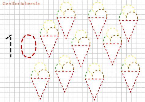 numeri in cifre o lettere giochi di pregrafismo prescrittura numeri genitorialmente