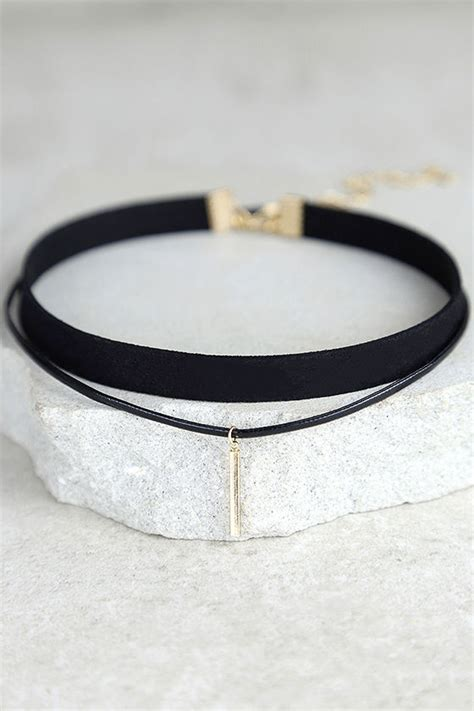 Necklace Layered Choker black choker necklace black and gold necklace 10 00