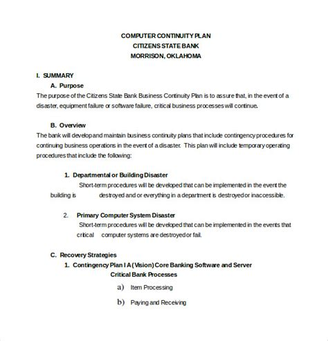 business contingency plan format 13 contingency plan templates free sle exle