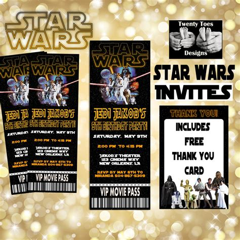 Printable Star Wars Movie Tickets | star wars movie invitation movie ticket printable movie