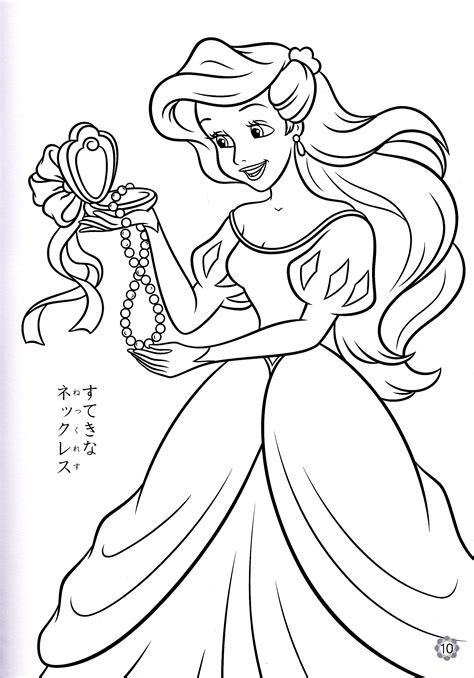 walt disney coloring pages princess ariel walt disney
