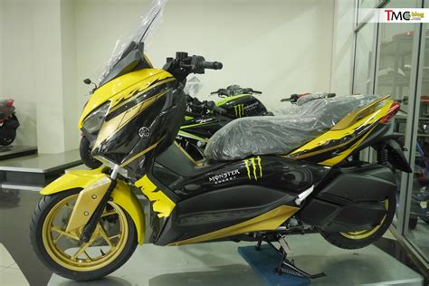 vlog intip yamaha xmax custom livery tech motogp