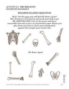 skeleton cut out worksheet davezan