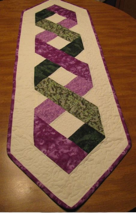Table Runner Patterns Ribbon Pattern Runner My Quilt Projects Pinterest