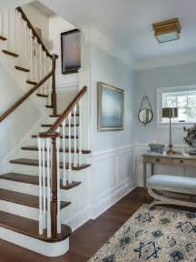 Victorian wooden u shaped staircase idea in providence